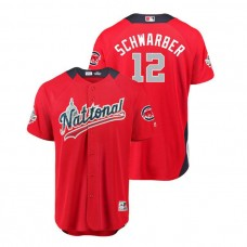 National League #12 Kyle Schwarber Home 2018 MLB All-Star Red Run Derby Jersey