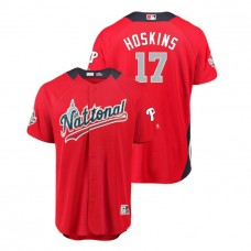 National League #17 Rhys Hoskins Home 2018 MLB All-Star Red Run Derby Jersey