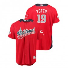 National League #19 Joey Votto Home 2018 MLB All-Star Red Run Derby Jersey