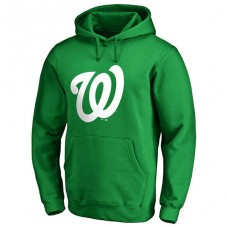 Washington Nationals Kelly Green St. Patrick's Day White Logo Pullover Hoodie