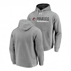 Pittsburgh Pirates Under Armour Heathered Gray Commitment Stack Hoodie