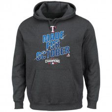 Rangers 2016 AL West Champions Charcoal Made for October Hoodie