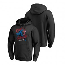 Texas Rangers Marvel Black Panther Black King of the Diamond Fanatics Branded Hoodie