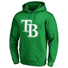 Tampa Bay Rays Kelly Green St. Patrick's Day White Logo Pullover Hoodie