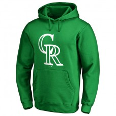 Colorado Rockies Kelly Green St. Patrick's Day White Logo Pullover Hoodie