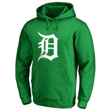 Detroit Tigers Kelly Green St. Patrick's Day White Logo Pullover Hoodie