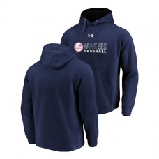 New York Yankees Under Armour Navy Commitment Stack Hoodie