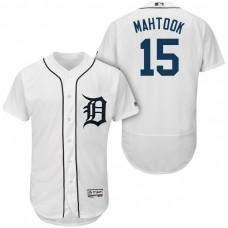 Detroit Tigers #15 Mikie Mahtook White 2018 Home Authentic Collection Flex Base Jersey