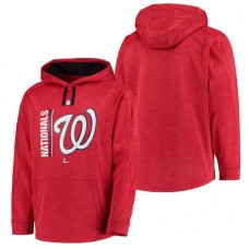 Nationals Authentic Collection Team Icon Streak Fleece Red Pullover Hoodie