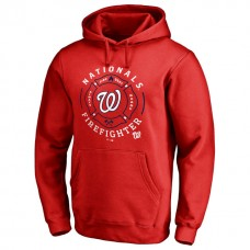 Nationals Firefighter Red Pullover Hoodie