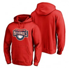Washington Nationals Cooperstown Collection Huntington Pullover Red Hoodie