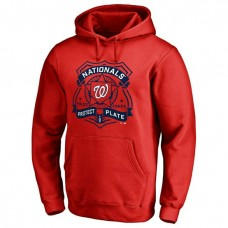 Nationals Police Badge Red Pullover Hoodie