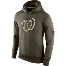 Washington Nationals Salute To Service Olive Hoodie
