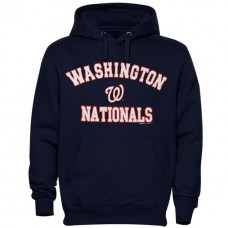 Nationals Stitches Fastball Fleece Navy Pullover Hoodie