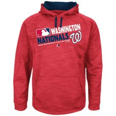 Nationals Team Choice Streak Red Authentic Collection Hoodie