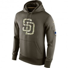 San Diego Padres Salute To Service Olive Hoodie