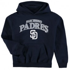 YOUTH - Padres Stitches Team Fleece Navy Pullover Hoodie
