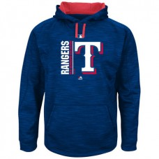 Rangers Authentic Collection Team Icon Streak Fleece Royal Pullover Hoodie