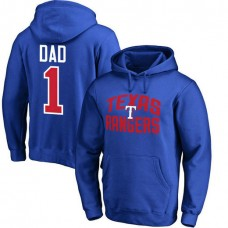 Texas Rangers Father's Day Royal #1 Dad Player Pullover Hoodie