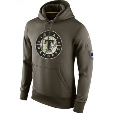 Texas Rangers Salute To Service Olive Hoodie