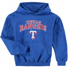 YOUTH - Rangers Stitches Team Fleece Royal Pullover Hoodie