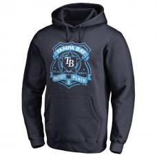 Rays Police Badge Navy Pullover Hoodie