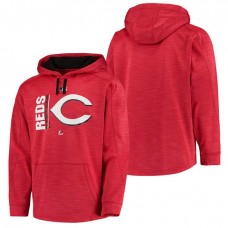 Reds Authentic Collection Team Icon Streak Fleece Red Pullover Hoodie