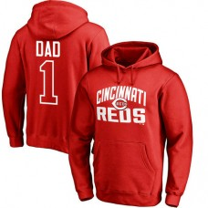 Cincinnati Reds Father's Day Red #1 Dad Player Pullover Hoodie