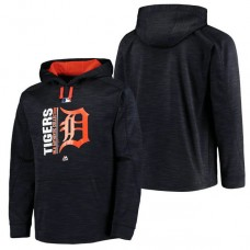 Tigers Authentic Collection Team Icon Streak Fleece Navy Pullover Hoodie