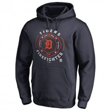 Detroit Tigers Firefighter Navy Pullover Hoodie