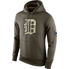 Detroit Tigers Salute To Service Olive Hoodie