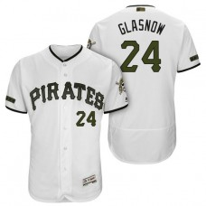 Pittsburgh Pirates #24 Tyler Glasnow White 2018 Home Alternate Authentic Collection Flex Base Jersey