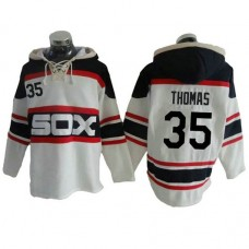 Chicago White Sox Frank Thomas #35 Throwback Player Pullover Hoodie