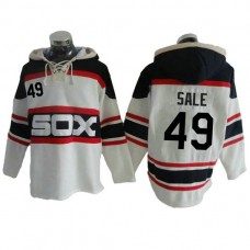 Chicago White Sox Chris Sale #49 Throwback Player Pullover Hoodie