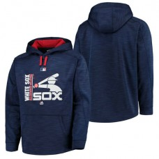 White Sox Authentic Collection Team Icon Streak Fleece Navy Pullover Hoodie
