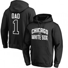 Chicago White Sox Father's Day Black #1 Dad Player Pullover Hoodie