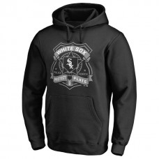White Sox Police Badge Black Pullover Hoodie