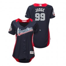 WOMEN - American League #99 Aaron Judge 2018 MLB All-Star Navy Home Run Derby Jersey