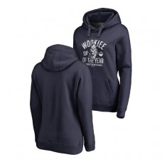 WOMEN - Washington Nationals Fanatics Branded Navy Star Wars Wookiee Of The Year Hoodie