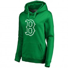 WOMEN - Boston Red Sox Kelly Green St. Patrick's Day White Logo Pullover Hoodie