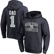 New York Yankees Father's Day Navy #1 Dad Player Pullover Hoodie