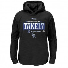 YOUTH - Colorado Rockies 2017 Postseason Authentic Collection Pullover Black Hoodie