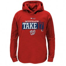 YOUTH - Washington Nationals 2017 Postseason Participant Pullover Scarlet Hoodie