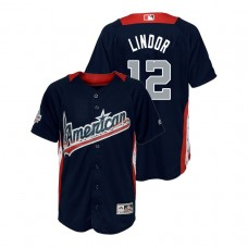 YOUTH - American League #12 Francisco Lindor 2018 MLB All-Star Navy Home Run Derby Jersey