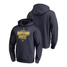 Milwaukee Brewers Locker Room Defend Navy 2018 NL Central Division Champions Majestic Hoodie
