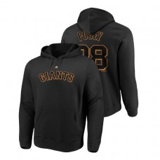 San Francisco Giants #28 Black Buster Posey Name & Number Authentic Majestic Hoodie