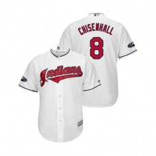 Cleveland Indians White #8 Lonnie Chisenhall Cool Base Jersey