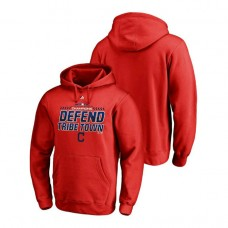 Cleveland Indians Locker Room Defend Red 2018 AL Central Division Champions Majestic Hoodie