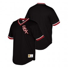 Chicago White Sox Cooperstown Collection Black Mesh V-Neck Jersey