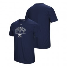 New York Yankees Block The Plate Navy Under Armour T-Shirt
